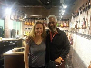 Chuck Rainey with Simone Croes