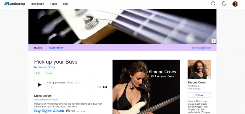 Simone Croes on Bandcamp
